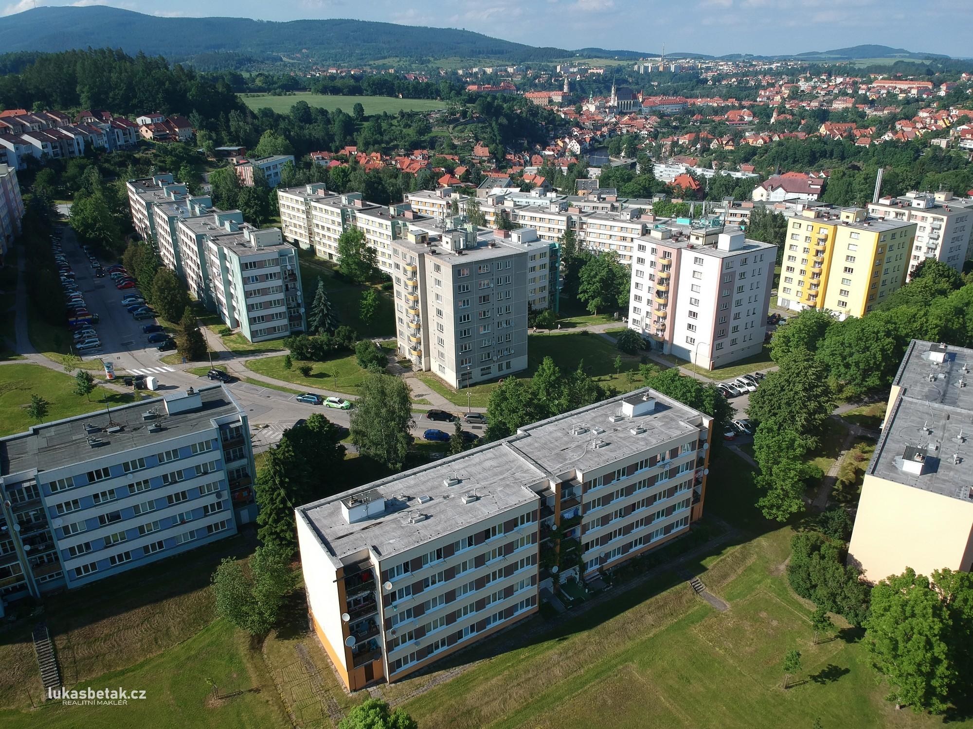 PRODÁNO – byt 1+1, Sídliště Plešivec č.p. 357, Český Krumlov